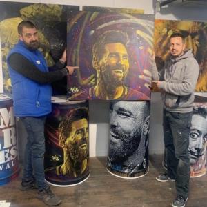 Lot 7 - Lionel Messi peint par Cib - Super lot !