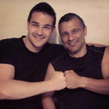 Cédric et son père Gérard